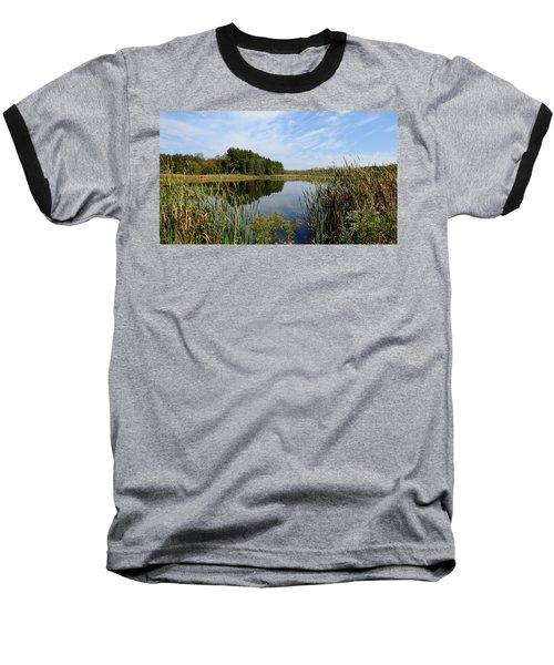 Baseball T-Shirt featuring the photograph The Lake At Cadiz Springs by Kimberly Mackowski