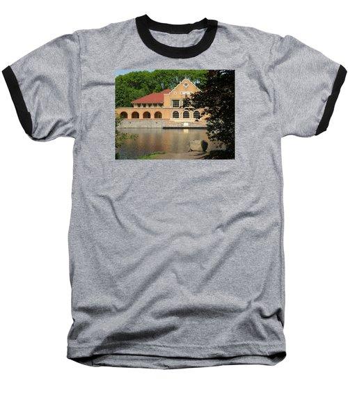 Baseball T-Shirt featuring the photograph The Lake House by Rosalie Scanlon