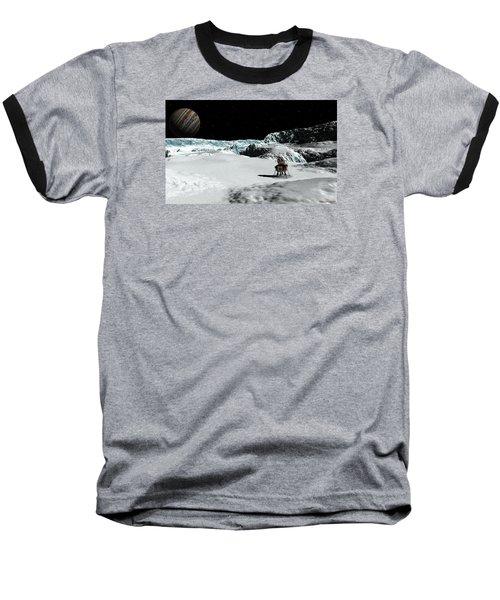 Baseball T-Shirt featuring the digital art The Lander Ulysses On Europa by David Robinson
