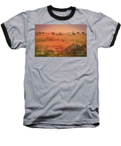 Baseball T-Shirt featuring the photograph The Landscape Of Dungeness Beach, England 2 by Perry Rodriguez