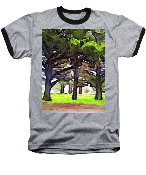 The Landscape With The Leaning Trees Baseball T-Shirt
