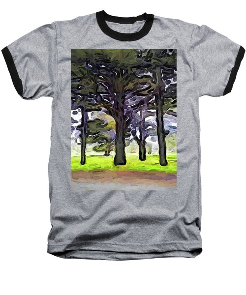 The Landscape With The Trees In A Row Baseball T-Shirt