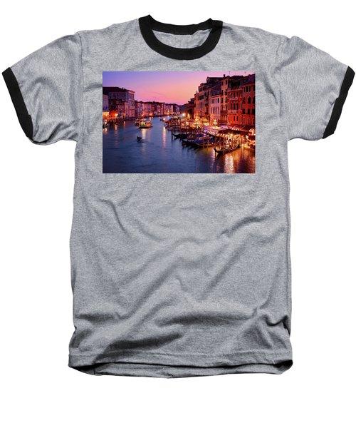 The Blue Hour From The Rialto Bridge In Venice, Italy Baseball T-Shirt