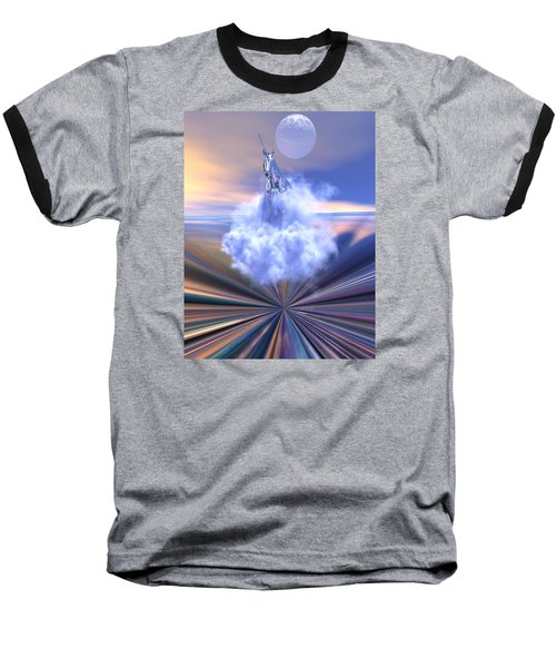 Baseball T-Shirt featuring the digital art The Last Of The Unicorns by Claude McCoy