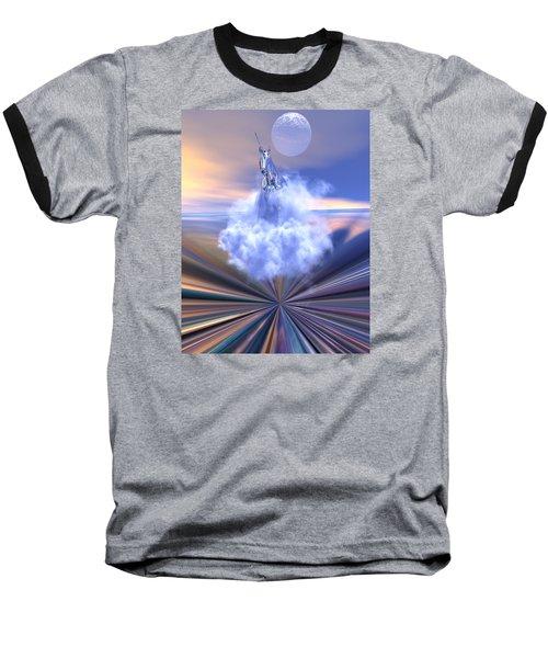 The Last Of The Unicorns Baseball T-Shirt by Claude McCoy