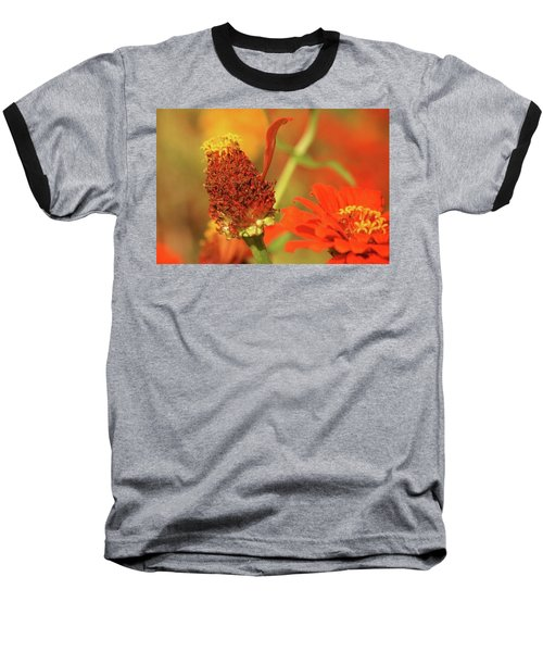 Baseball T-Shirt featuring the photograph The Last Petal by Donna G Smith