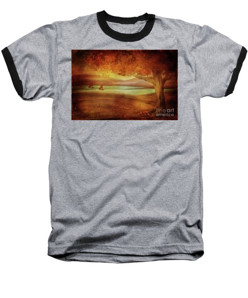 Baseball T-Shirt featuring the digital art The Last Sail Of The Season  by Lois Bryan