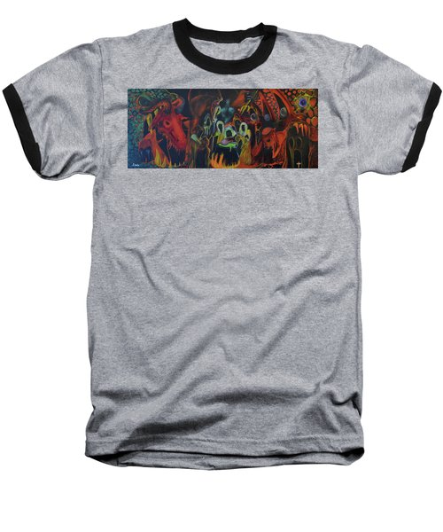 Baseball T-Shirt featuring the painting The Last Supper by Christophe Ennis