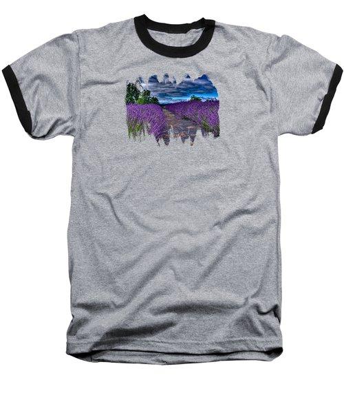 The Lavender Field Baseball T-Shirt