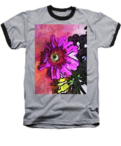 The Lavender Flower Above The Yellow Flower Baseball T-Shirt