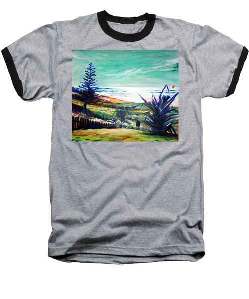 Baseball T-Shirt featuring the painting The Lawn Pandanus by Winsome Gunning