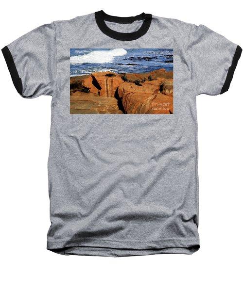 The Lazy Lounging Seals Baseball T-Shirt