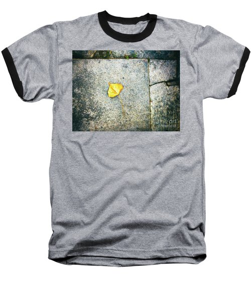 Baseball T-Shirt featuring the photograph The Leaf by Silvia Ganora