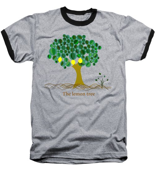 The Lemon Tree Baseball T-Shirt by Alberto RuiZ