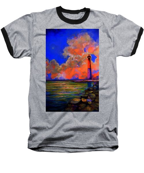 Baseball T-Shirt featuring the painting The Light by Emery Franklin