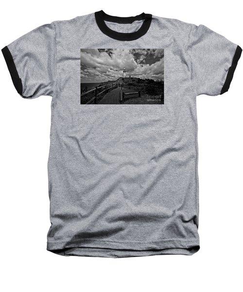 The Light House Baseball T-Shirt by Gary Bridger