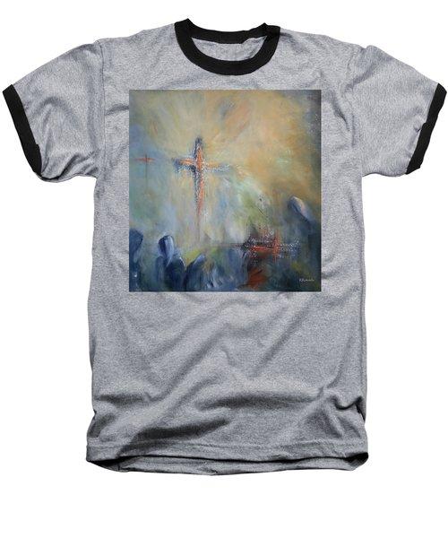 The Light Of Christ Baseball T-Shirt by Roberta Rotunda