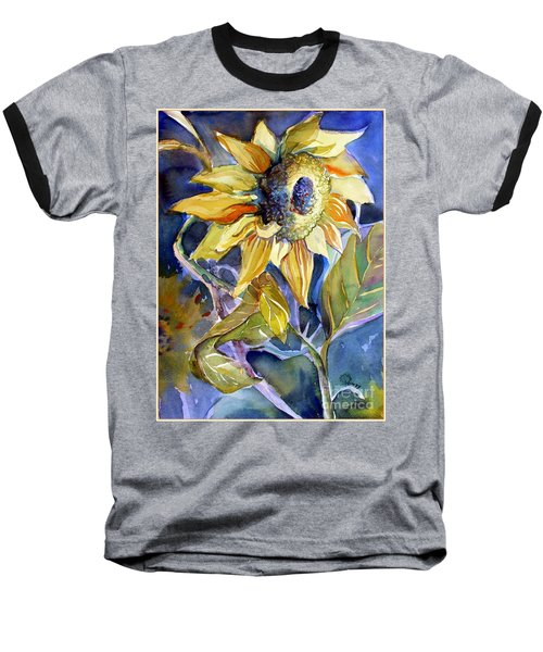 The Light Of Sunflowers Baseball T-Shirt by Mindy Newman