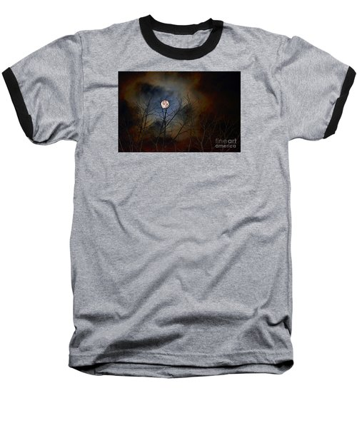 Baseball T-Shirt featuring the photograph The Light Of The Moon by Lila Fisher-Wenzel