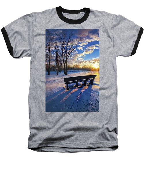 Baseball T-Shirt featuring the photograph The Light That Beckons by Phil Koch
