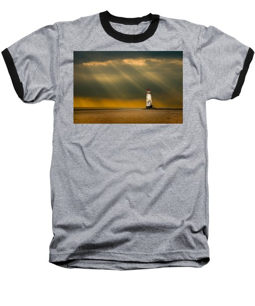 The Lighthouse As The Storm Breaks Baseball T-Shirt