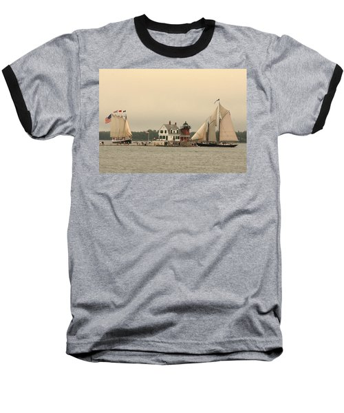 The Lighthouse At Rockland Baseball T-Shirt