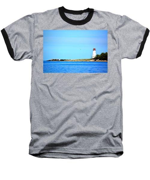 The Lighthouse At Sea Baseball T-Shirt