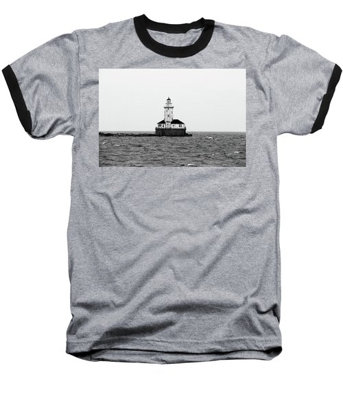 The Lighthouse Black And White Baseball T-Shirt