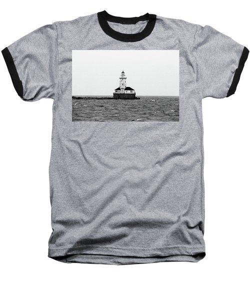 The Lighthouse Black And White Baseball T-Shirt