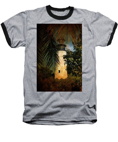 The Lighthouse In Key West Baseball T-Shirt by Susanne Van Hulst
