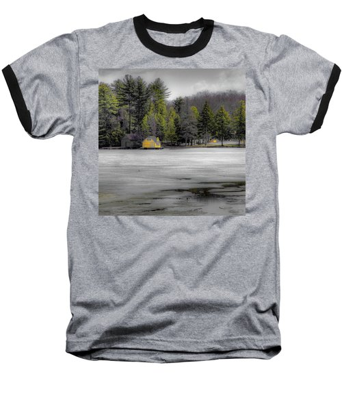 Baseball T-Shirt featuring the photograph The Lighthouse On Frozen Pond by David Patterson
