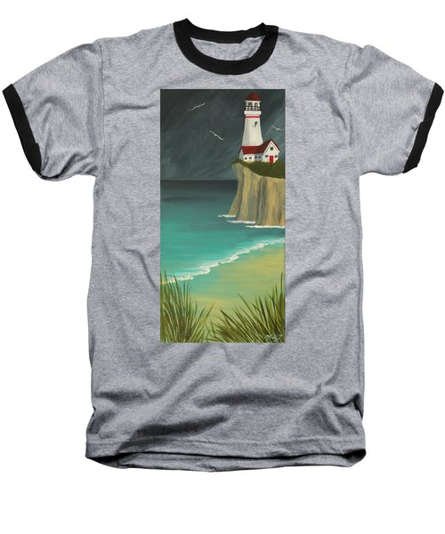 The Lighthouse On The Cliff Baseball T-Shirt