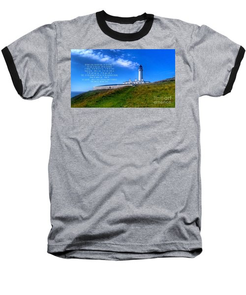 The Lighthouse On The Mull With Poem Baseball T-Shirt