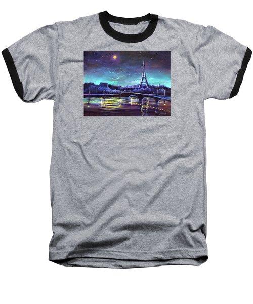 The Lights Of Paris Baseball T-Shirt