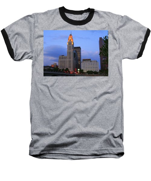The Lincoln Leveque Tower Baseball T-Shirt