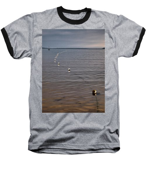 Baseball T-Shirt featuring the photograph The Line by Jouko Lehto