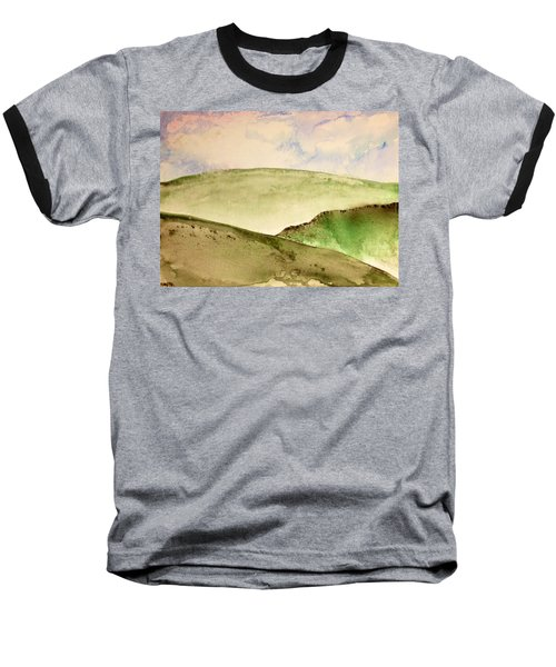 Baseball T-Shirt featuring the painting The Little Hills Rejoice by Antonio Romero