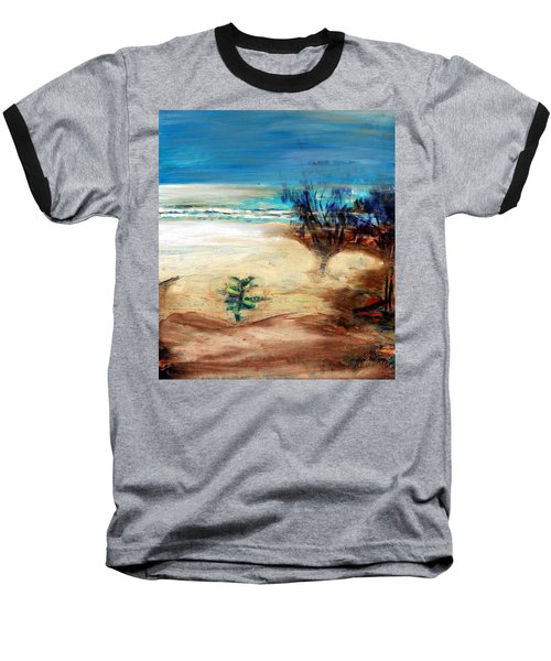 Baseball T-Shirt featuring the painting The Little Pine Tree by Winsome Gunning