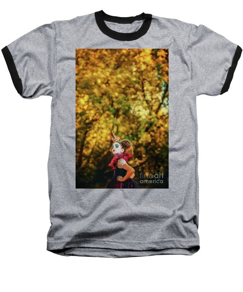 Baseball T-Shirt featuring the photograph The Little Queen Of Hearts Alice In Wonderland by Dimitar Hristov