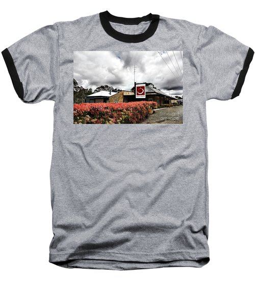 Baseball T-Shirt featuring the photograph The Little Red Grape Winery   by Douglas Barnard