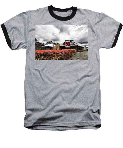 The Little Red Grape Winery   Baseball T-Shirt by Douglas Barnard