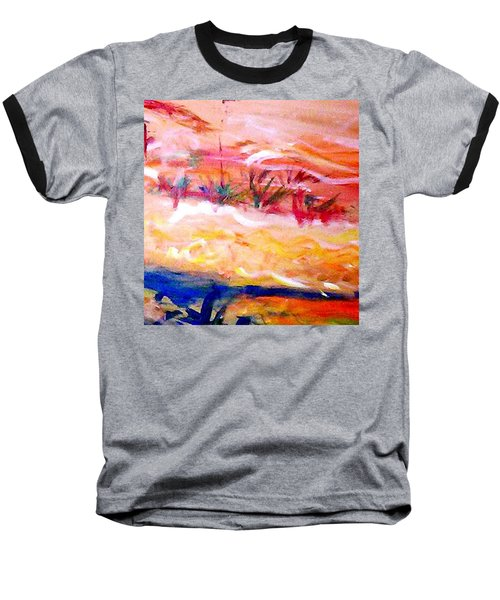 Baseball T-Shirt featuring the painting The Living Dunes by Winsome Gunning