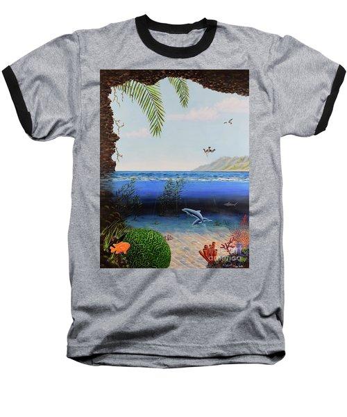 The Living Ocean Baseball T-Shirt