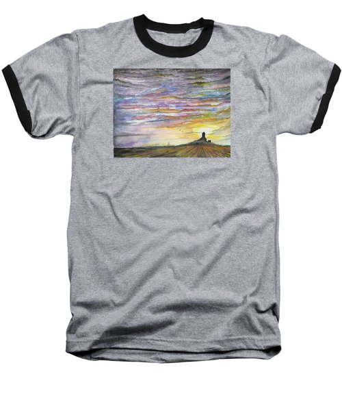 Baseball T-Shirt featuring the digital art The Living Sky by Darren Cannell