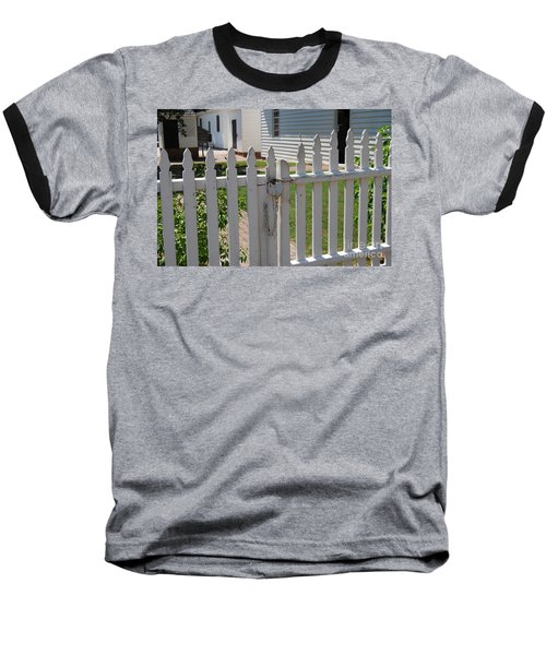 Baseball T-Shirt featuring the photograph The Lock by Eric Liller