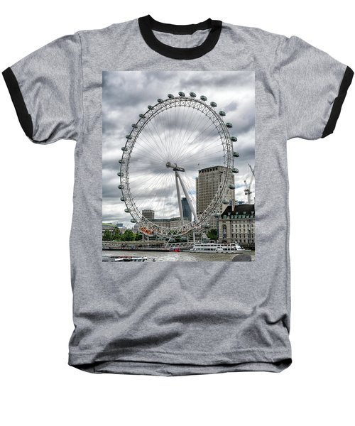 Baseball T-Shirt featuring the photograph The London Eye by Alan Toepfer