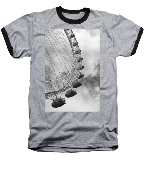 Baseball T-Shirt featuring the photograph The London Eye, London, England by Richard Goodrich