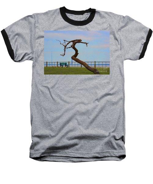The Lone Tree Baseball T-Shirt by Roberta Byram