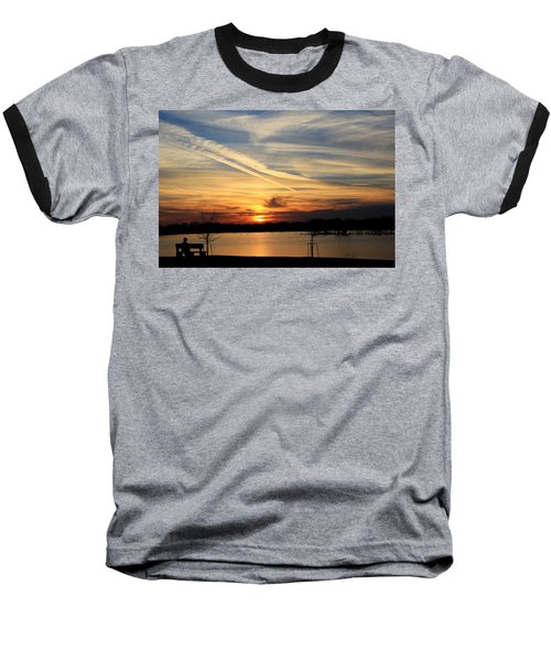 The Lonely Sunset Baseball T-Shirt