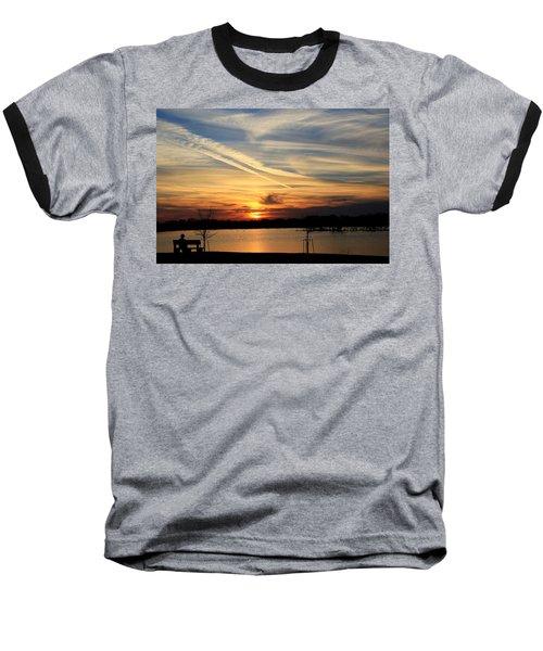 The Lonely Sunset Baseball T-Shirt